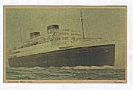 CUNARD WHITE STAR POST CARD, GEORGIE (Image1)