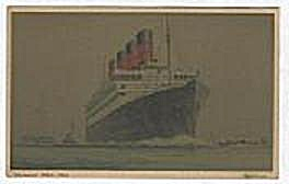 CUNARD WHITE STAR POST CARD, AQUITANIA (Image1)