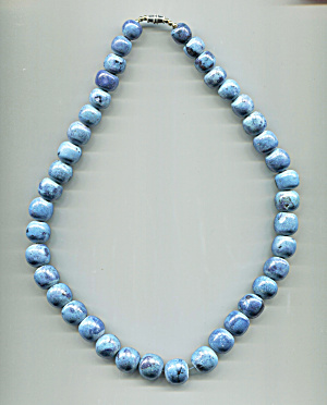 Marbled Blue Stones Necklace