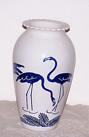 Vitrock Blue Flamingo Vase