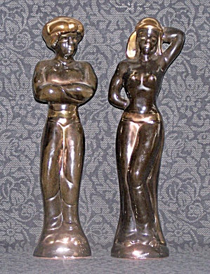 BLACK EGYPTIAN FIGURES (Image1)