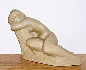 ALABASTER SITTING NUDE FIGURE (Image1)