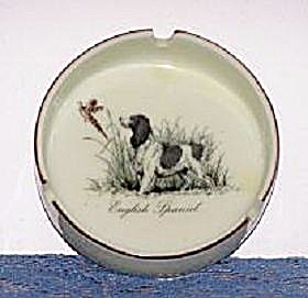 English Spaniel W/bird Ash Tray