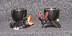 Two Figural Egg Cups