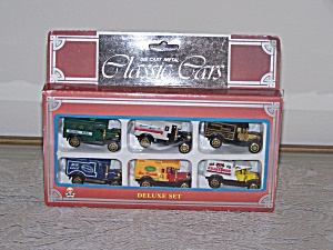 DIE CAST METAL CLASSIC CARS, SELUXE SET OF 6 TRUCKS (Image1)