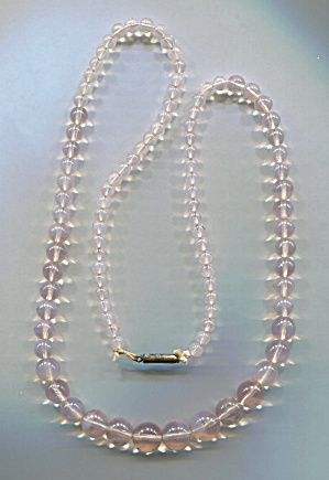 Pale Pink Glass Beads Necklace