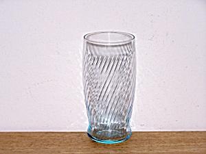 4 PALE TURQUOISE BLUE SWIRL GLASSES (Image1)