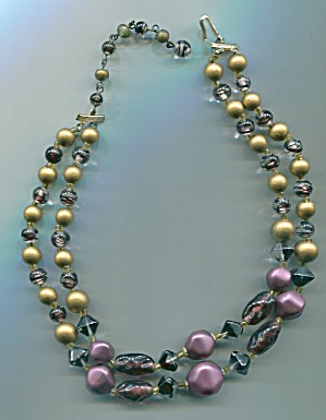 JAPAN DOUBLE STRAND BROWN BEADS NECKLACE (Image1)