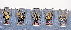 SET OF 5 GENTLEMEN SHOT GLASSES (Image1)