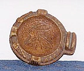 INDIAN HEAD IN COMPOSITION ASH TRAY (Image1)