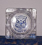 Policeman's Ball Glass Ashtray