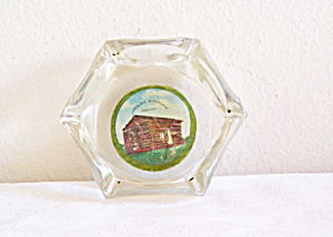 Lincoln's Birthplace, Ky. Souvenir Glass Ashtray