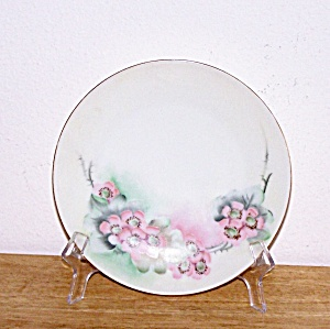 Hand Painted Flowers Plate, Sevres