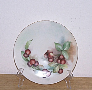 HAND PAINTED CHERRIES PLATE, BAVARIA (Image1)