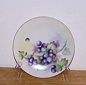 HAND PAINTED FRUIT PLATE, J & C BAVARIA (Image1)