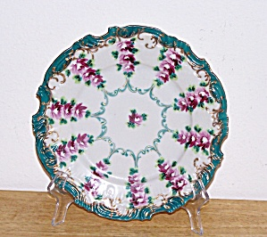 SCALLOPED EDGE FLOWERS PLATE (Image1)