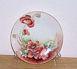 HAND PAINTED FLOWERS PLATE, AUSTRIA (Image1)
