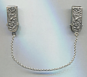 Embossed Silver Sweater Guard