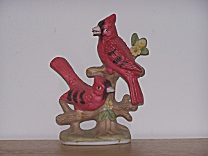 Two Red Cardinals In Branches