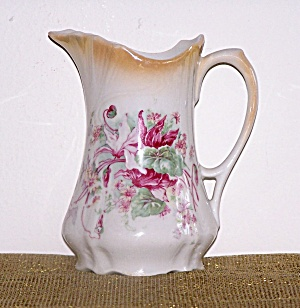 GERMANY FLOWERED PORCELAIN PITCHER (Image1)