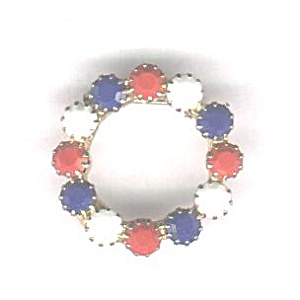 Red, White & Blue Circle Pin