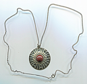 Sarah Coventry Egypt Pendant On Chain Necklace
