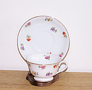 O.J. FLOWERED CUP & SAUCER (Image1)