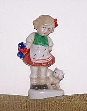O.J. GIRL W/DOG FIGURINE (Image1)