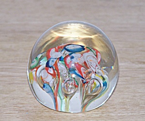 Red, White & Blue Glass Paperweight