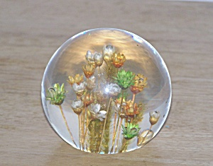 Multi Flowers Plastic Paperweight