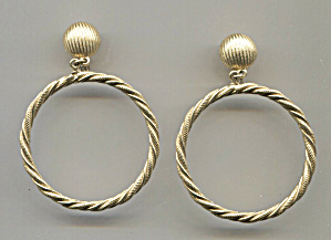 Monet Twisted Gold Tone Hoop & Post Clip-back Earrings