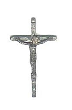 METAL CATHOLIC CRUCIFIX, ITALY (Image1)