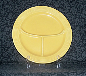 Fiesta Yellow Compartment Plate