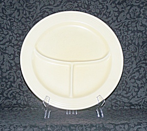 Fiesta Ivory Compartment Plate