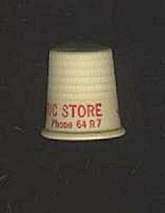 WENDT'S ELECTRIC STORE PLASTIC THIMBLE (Image1)