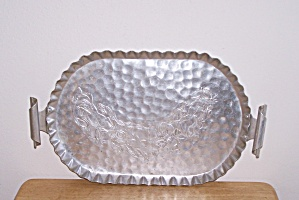 Aluminum Handled Tray W/deer