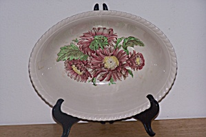 Johnson Bros. Oval Vegetable Bowl, Old Flower Prints