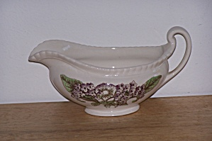Johnson Bros. Gravy Boat, Old Flower Prints