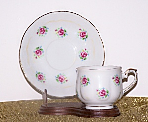 Ftd Pink Roses Cup & Saucer