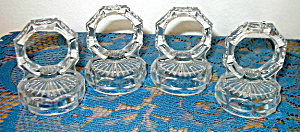 SET OF 4 CLEAR GLASS NAPKIN RINGS (Image1)