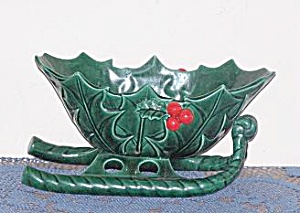 LEFTON GREEN SLEIGH PLANTER (Image1)