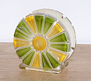 YELLOW & GREEN RESIN NAPKIN HOLDER (Image1)