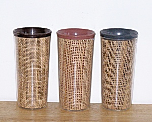 THERMAL WARE STRAW WEAVE 3 TALL TUMBLERS (Image1)