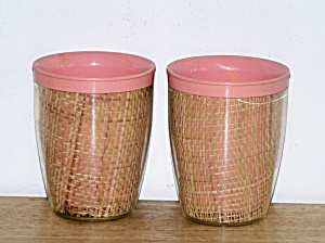 THERMAL WARE STRAW WEAVE 2 SHORT TUMBLERS (Image1)