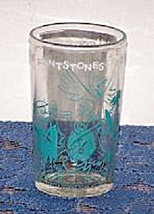 1962 HANNA-BARBERA PRODUCTIONS FLINTSTONE CARTOON GLASS (Image1)