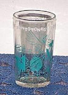 1962 HANNA-BARBERA PRODUCTIONS FLINTSTONE CARTOON GLASS (Image1)