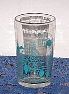 1963 HANNA-BARBERA PRODUCTIONS FLINTSTONE CARTOON GLASS (Image1)