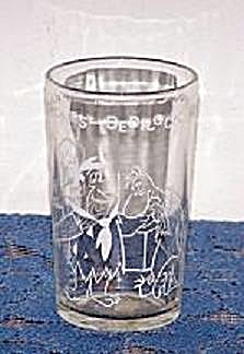 1964 HANNA-BARBERA PRODUCTIONS FLINTSTONE CARTOON GLASS (Image1)