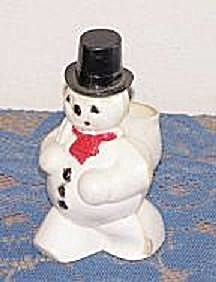 Snow Man Plastic Candy Container
