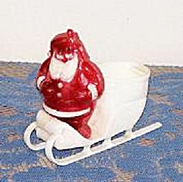 LARGE SANTA IN SLEIGH PLASTIC CANDY CONTAINER (Image1)